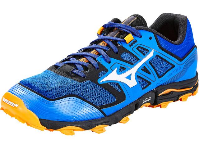 Mizuno Wave Hayate 6 Chaussures Homme, patroit blue/lunarrock/flame orange